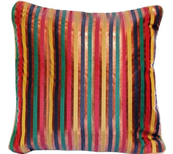 Striped Throw Pillow Brown Throw Pillow Shimmer Throw Pillow Pillow Covers Rose Gold Pillow Decorative Cushion Bronze Copper Luxury Pillow