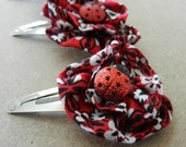 Red Fabric flowers
