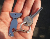Vintage Shepherds Dog training   Whistle Keychain Stainless Steel