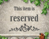 RESERVED listing for Angela ONLY