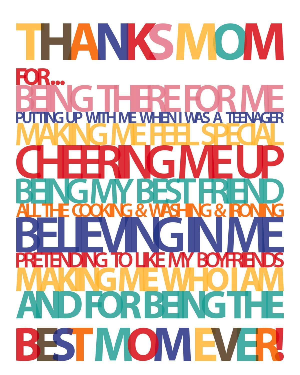 Thankful To Be A Mom Quotes: Thanks Mom Quotes. QuotesGram
