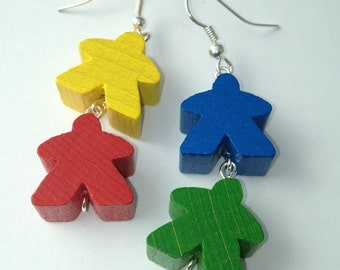 Double Meeple Earrings