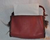 SALE! Hanging Leather Napkin Holder