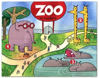 Zoo by Numbers  / Mutant Book for kids (pop up)