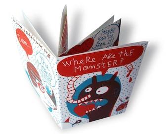 Monster Instant book (silkscreen pop up minibook)