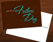 Brown & Blue - Father's Day Card