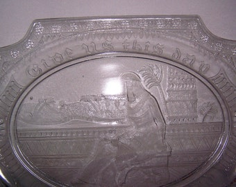FREE S & H    EAPG Egyptian Platter 'CLEOPATRA' Adams and Co 1884 Parthenon Collection