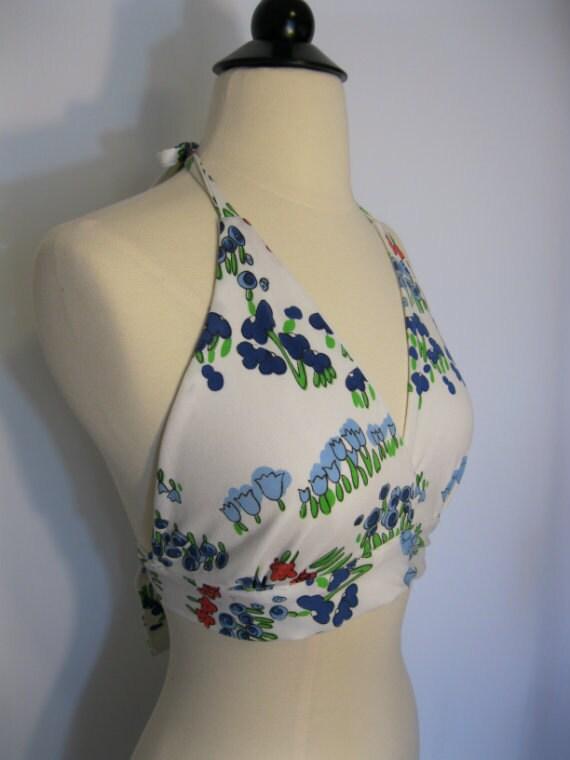 Vintage 70s Floral Halter Top