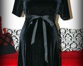 Black Velvet Maternity Dress....Film Noir