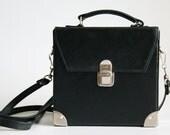 Vintage 1980-s boxy satchel style bag, shoulder/ across-body bag