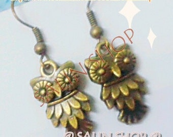 Buy 3 Free 1 : Owl Earring , cheap earring , dangle earring ,fashion earring