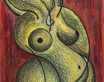 Gaea, giclee painting