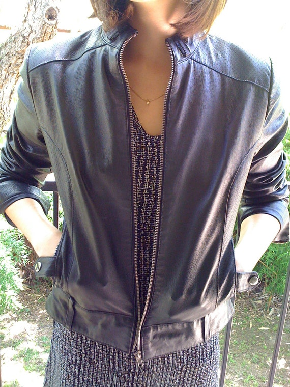 Black Leather Jacket SMALL