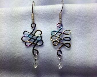 Rainbow Loop To Loop Earrings