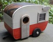 Shasta Birdhouse Trailer - Tangerine/White bird house camper