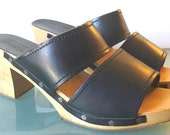 Vintage Jennifer Moore Clog Sandals Made in Italy 9B