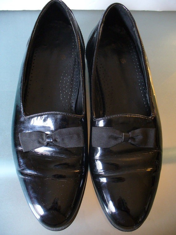 Vintage Men's Patent Leather Formal Dress Shoes Made in Italy 12W