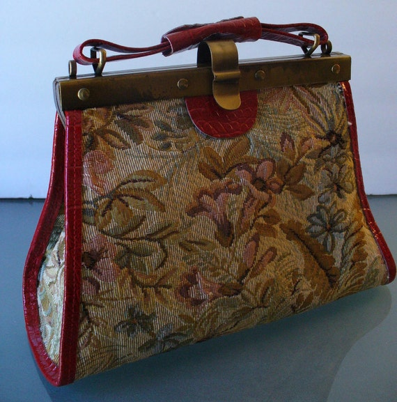 Tapestry Handbag Made in Italy