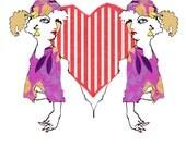 Queen of Hearts - Set of Postcards