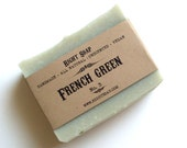 French Green Soap Bar handmade soaps, homemade soaps, Christmas gifts, Stocking stuffers, gift soap, cold process soap, vegan soaps