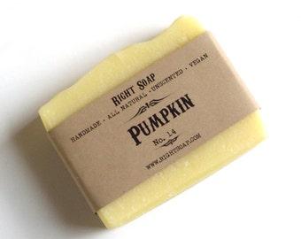 Pumpkin Soap, Sensitive skin Soap, Antioxidant Soap ,All Natural Soap, Unscented Soap, homemade soaps, Christmas stocking, Christmas gifts
