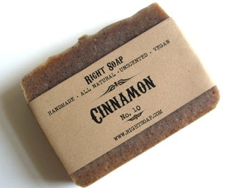 Cinnamon Soap Bar, All Natural Soap, Unscented Handmade Soap, Christmas stocking, Christmas gifts, Stocking stuffers