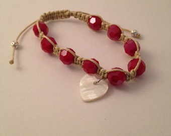 Ruby and Pearls Bracelet