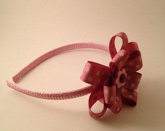 Raspberry Ribbon Hairband