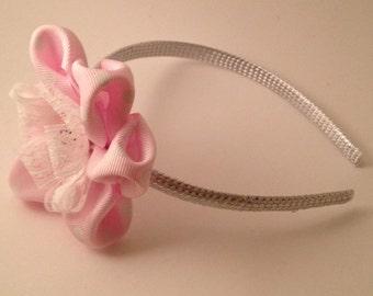 Pink Polkadot Hairband