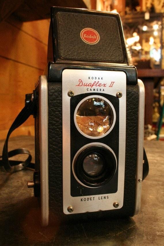 Kodak Duaflex II Vintage Camera - Mid Century Fun Camera