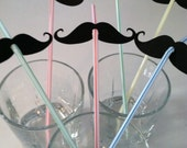 STACHE STRAWS (set of 10 in Party Colors)