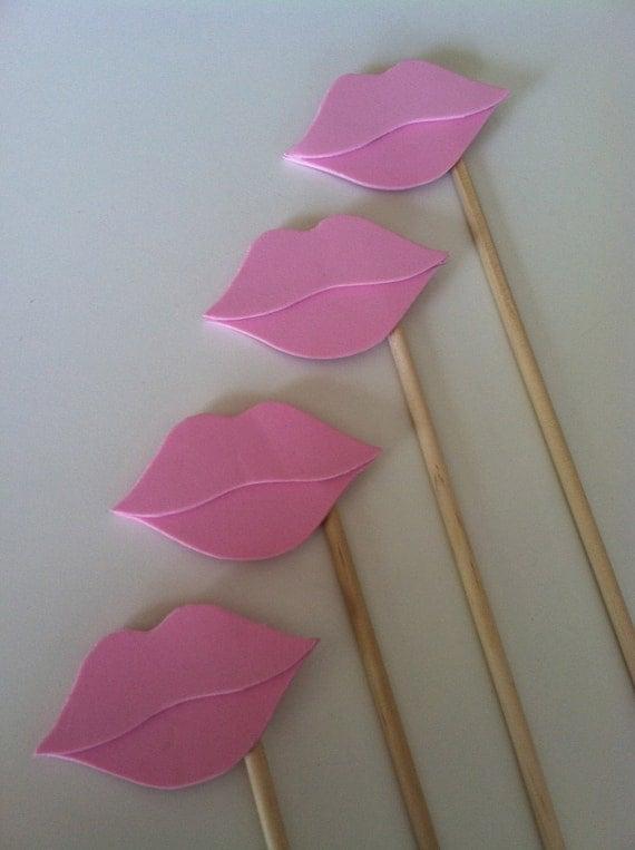 LIP STICKS Set of 5 light pink hand cut lip sticks