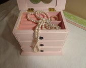 Upcycled Ballerina Pink  Vintage  Jewelry Box