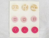 Hot pink Sew on Button Kit - Hot pink light pink nougat sew on buttons