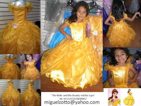 Vestido de la Princesa La Bella y la bestia por miguelzottoyahoocom