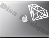 "3.8"" x 5.5"" Diamond vinyl decal for Macbook / Laptop / Notebook / Computer / Car"