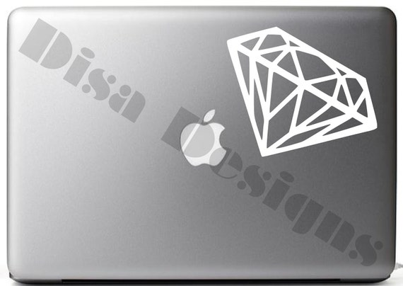 "3.8"" x 5.5"" Diamond vinyl decal for Macbook / Laptop / Notebook / Computer / Car"