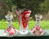 Crystal Candle holders and Vase