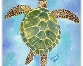"CUSTOM LISTING - Set of 50 Sea Turtle Notecards 4.25"" x 5.5"" Jennifer Love Artwork art notecard"