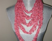 Candy Cane  Knitted Cotton Necklace