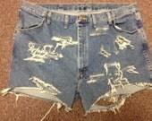 Plus Size Destroyed Vintage High Waisted Denim  Shorts