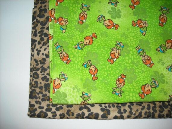 Custom PERSONALIZED Large Double Flannel Blanket Baby Girl PEBBLES Flintstone