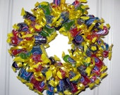 Edible Candy Wreath - Jolly Ranchers