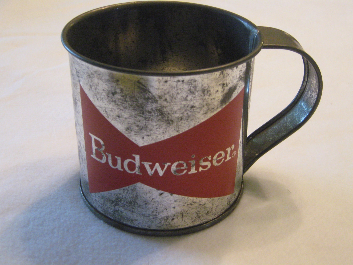 Clearance Sale Vintage Budweiser Tin Cup Collectible