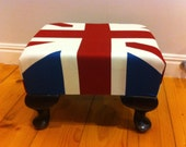 Union Jack decorative foot stool