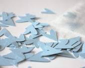 fancy hearts - baby blue - confetti