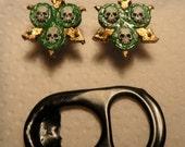 Nurgle icon stud earrings