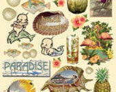Seaside Memories Heartwarming Vintage Stickers HVS916