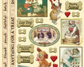 Sale Stickers DOG'S LIFE Heartwarming Vintage Stickers HVS919