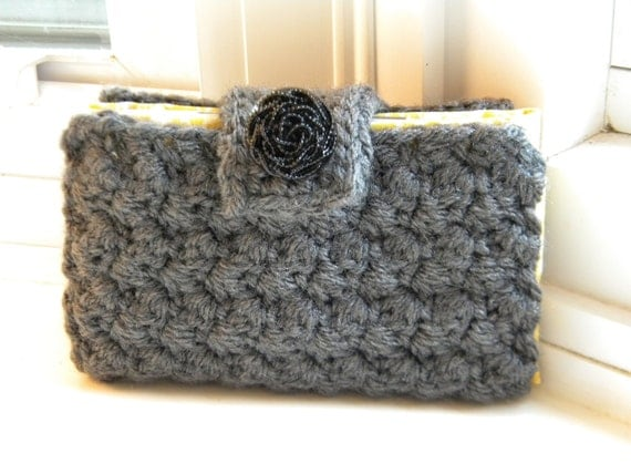 Crocheted, Fabric-Lined Cell Phone/Card Case